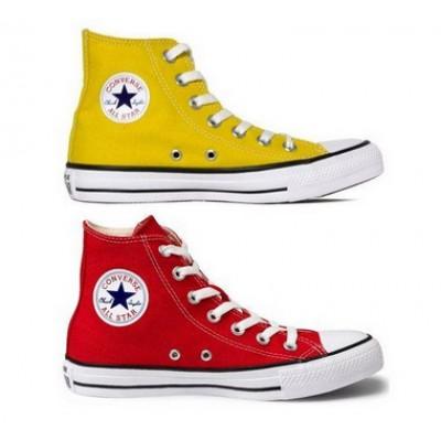 Kit 1 Bota All Star  Amarelo + 1 Bota All Star Vermelho