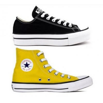 Kit 1 Tênis Converse All Star Plataforma Preto + 1 Bota All Star Amarelo