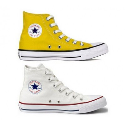 Kit 1 Bota All Star  Branco + 1 Bota All Star Amarelo
