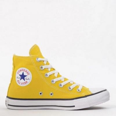 Bota Converse Chuck Taylor All Star Hi Amarelo Vivo