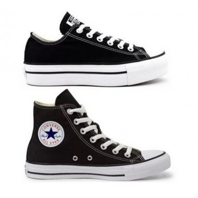 Kit 1 Tênis Converse All Star Plataforma Preto + 1 Bota All Star Preto