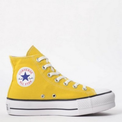 Bota  Plataforma All Star Lift Hi Amarelo Vivo