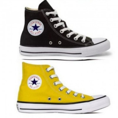 Kit 1 Bota All Star  Preto + 1 Bota All Star Amarelo